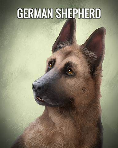 German Shepherd Badge - Quinn's Aquarium