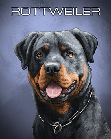 Rottweiler Badge - Vaults Of Atlantis Slots