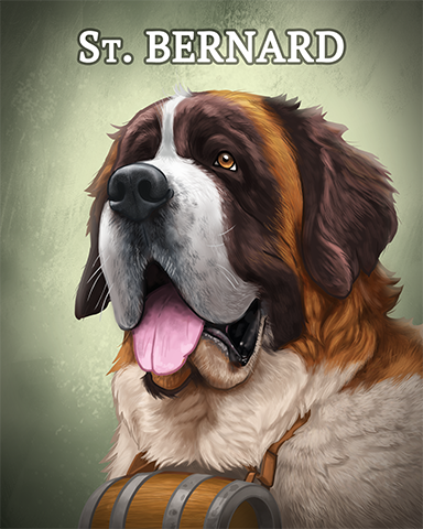 Saint Bernard Badge - Vanishing Trail