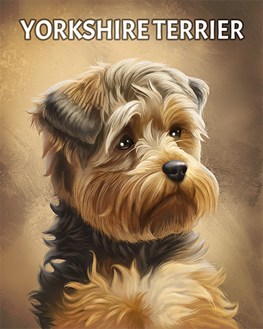 Yorkshire Terrier Badge - A Way With Words