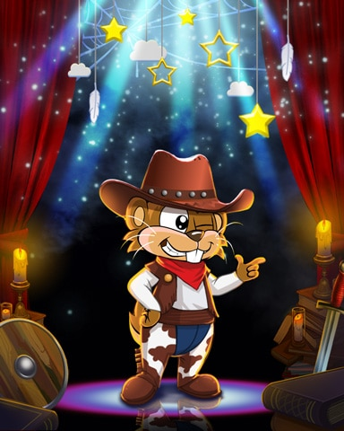 Cowboy Nestor Costume Badge - Word Whomp HD