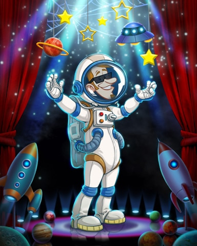 Beat-Nick In Space Costume Badge - Canasta HD