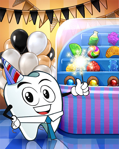 Pogo Toothy's Party Treats Badge