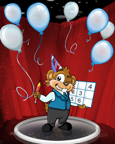 Daily Sudoku Birthday Badge - Pogo Daily Sudoku