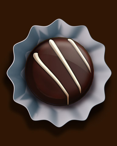 Dark Chocolate Truffle Badge - Turbo 21 HD