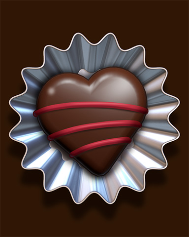 Heart Queen Truffle Badge - Pogo Addiction Solitaire HD