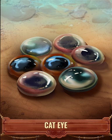 Cat Eye Shell Badge - First Class Solitaire HD