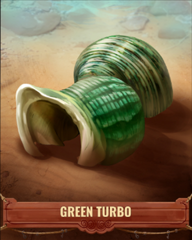 Green Turbo Shell Badge - Anagrams