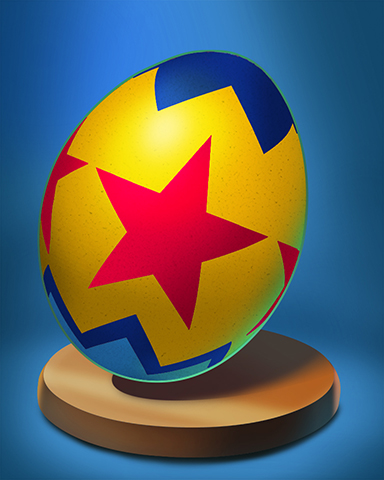 Star Striped Egg Badge - Stack'em HD
