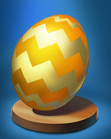 Golden Zigzags Egg Badge - Lottso! Express HD
