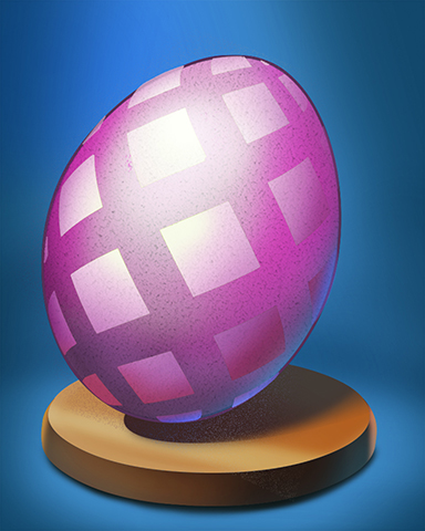 Pink Squares Egg Badge - Canasta HD