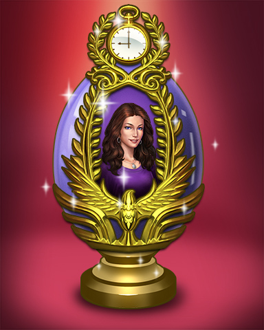 Golden Claire Egg Badge - Claire Hart Classic