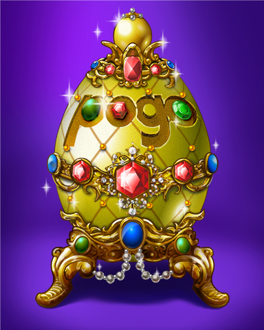 Pogo Golden Egg Badge - Jet Set Solitaire