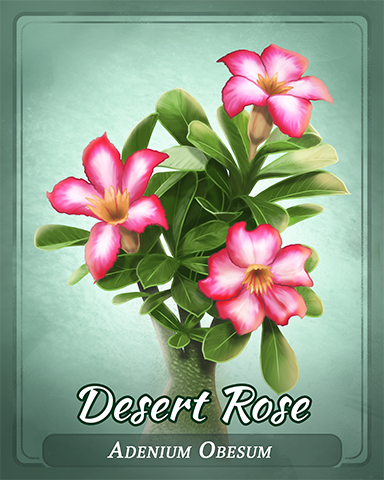 Desert Rose Badge - Spades