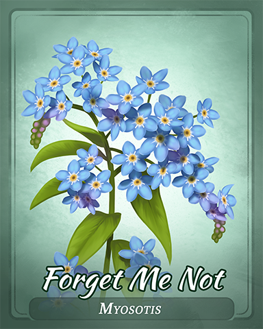 Forget Me Not Badge - Undiscovered World