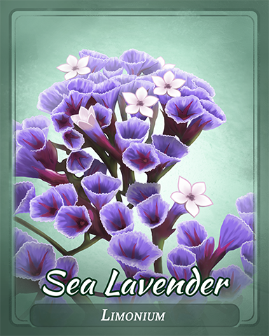Sea Lavender Badge - Jet Set Solitaire