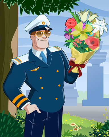 Captain Romance Badge - First Class Solitaire HD