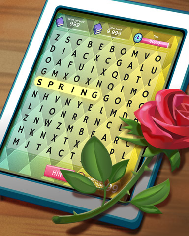 Rosy Words Badge - Word Search Daily HD