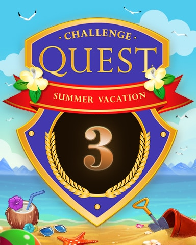 2020 Summer Vacation Week 3 Badge - Jet Set Solitaire
