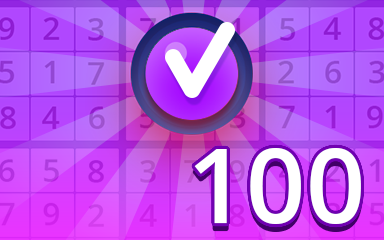 Expert 100 Badge - Pogo Daily Sudoku