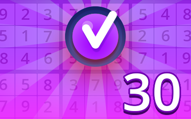 Expert 30 Badge - Pogo Daily Sudoku