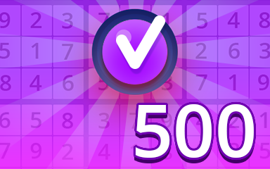 Expert 500 Badge - Pogo Daily Sudoku