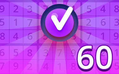 Expert 60 Badge - Pogo Daily Sudoku