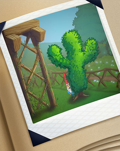 Garden Escape Cactus Badge - Solitaire Gardens
