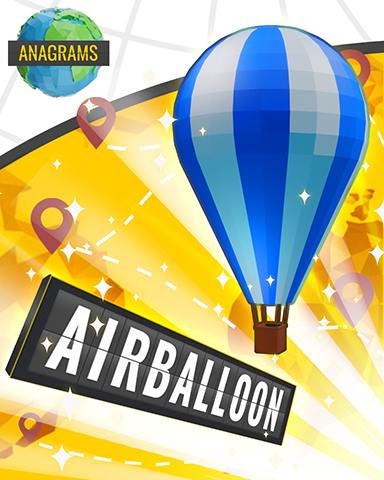 Anagrams Air Balloon Badge - Anagrams