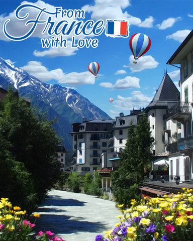 Mountain Village Badge - From France With Love