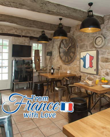 French Bistro Badge - From France With Love