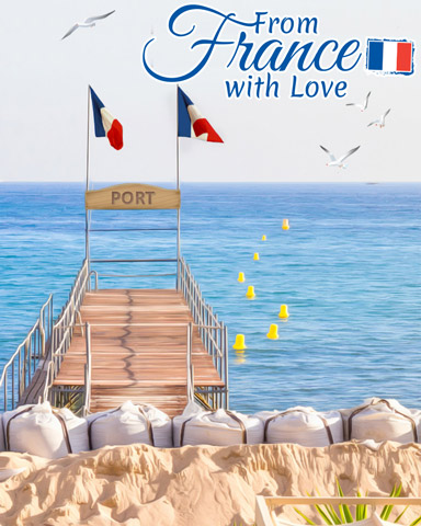 Beach Life Badge - From France With Love