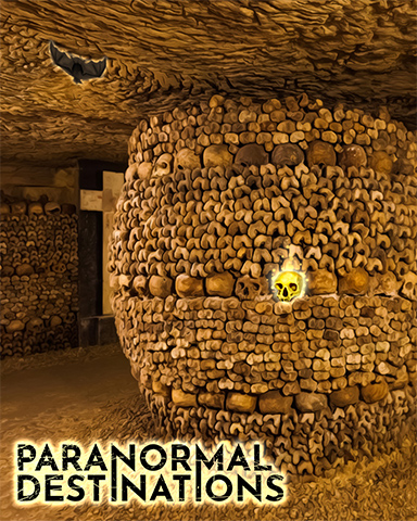 Catacombs Of Paris Badge - Paranormal Destinations