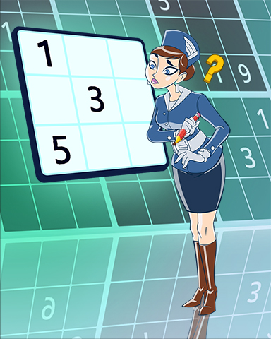 Puzzling With Pam Badge - Pogo Daily Sudoku