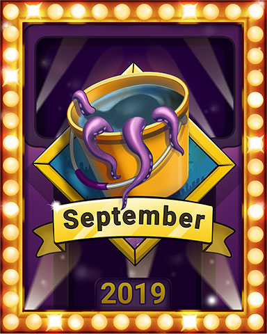 September Swim Lap 2 Badge - Quinn's Aquarium