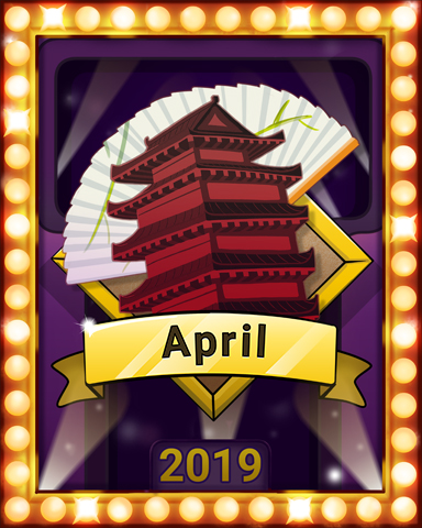 April Escape Lap 2 Badge - Mahjong Escape
