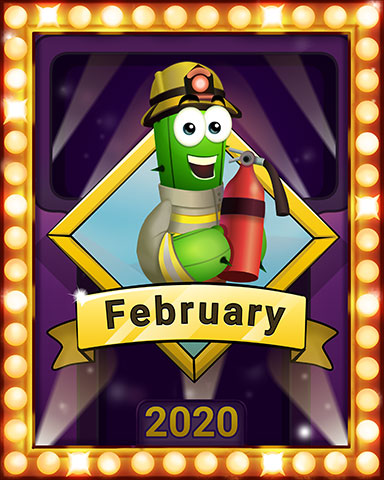 February Popathon Lap 2 Badge - Poppit! Party