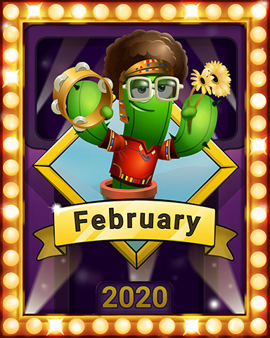 February Popathon Lap 3 Badge - Poppit! Party