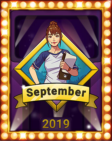 September Swim Lap 4 Badge - Quinn's Aquarium