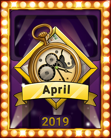 April Escape Lap 3 Badge - Mahjong Escape