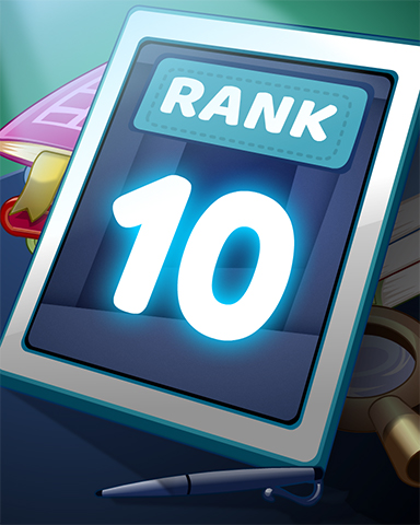 Rank 10 Badge - Word Search Daily HD