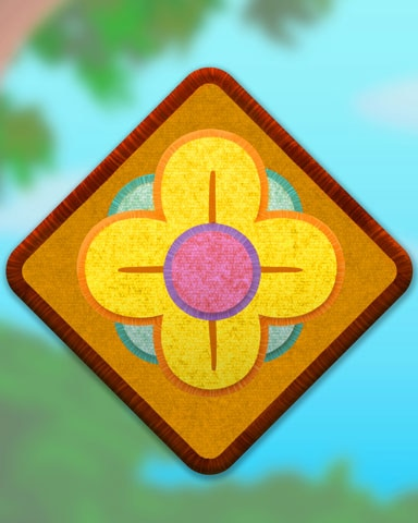 Yellow Flower Badge - Claire Hart: Secret In The Shadows