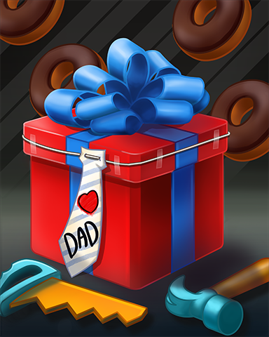 Gift For Dad Badge - Mahjong Safari HD