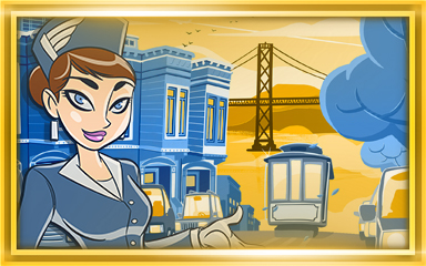 San Francisco Extended Stay Coach Badge - Jet Set Solitaire