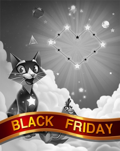 Love Stars Black Friday Badge - Bejeweled Stars