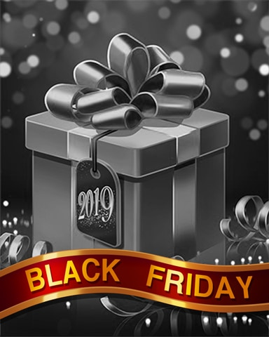 Golden Giftbox Black Friday Badge - First Class Solitaire HD