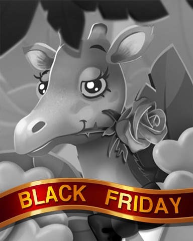 Gentleman Giraffe Black Friday Badge - Mahjong Sanctuary
