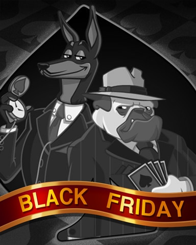 Dapper Dogs Black Friday Badge - Spades HD
