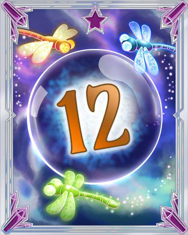 Magic Dragonfly 12 Badge - Claire Hart: Secret In The Shadows