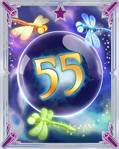 Magic Dragonfly 55 Badge - Tri-Peaks Solitaire HD